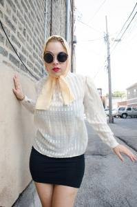 mag white blouse
