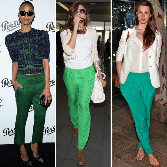 what can i wear with green pants - Pi Pants