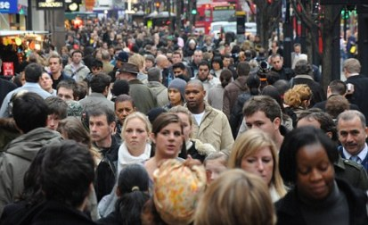 Shopping in Oxford Street (file picture)